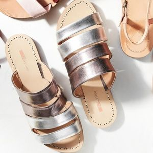ANTHROPOLOGIE | Matiko Kyla Slide Sandals
